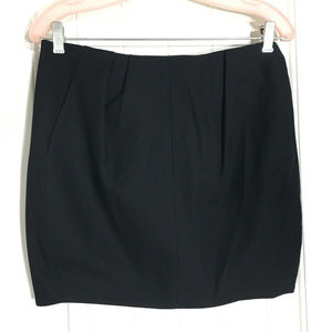 Helmut Lang Black Basket Twill Fitted Mini Skirt 4